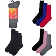 Ladies 3 Pk Thermal Socks (SK139A)